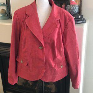 Rafaella Woman 18W Red Blazer Jacket Coat